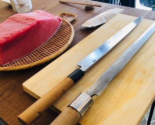 Katana for tuna cut